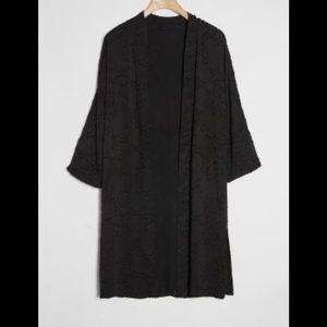 ANTHROPOLOGIE Blue Black Burnout Kimono, NEW!